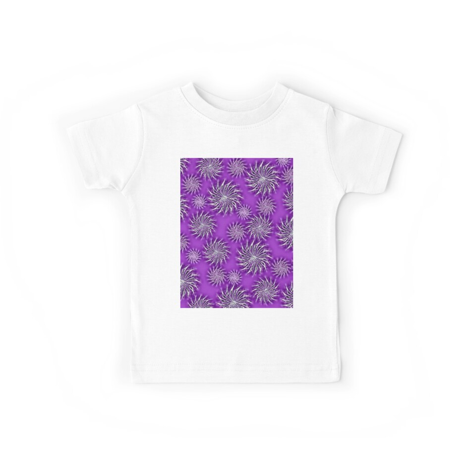Abstract Spinning Stars Purple Pattern by piciareiss
