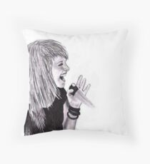 Hayley Williams Sing Throw Pillow