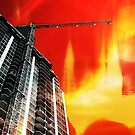 city on fire by Scott Mitchell