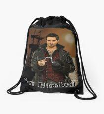 "Captain Hook ""I'm Hooked"" Comic Design Drawstring Bag"