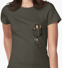 Dread Pocket Roberts Womens Fitted T-Shirt