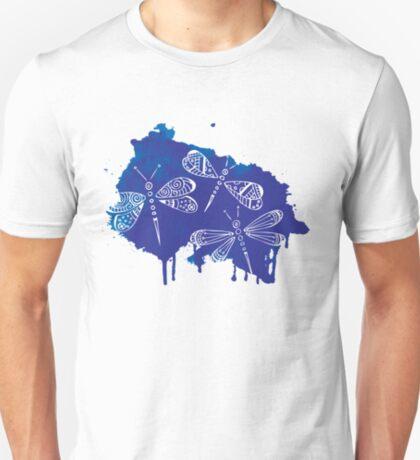 Color Me Dragonflies : Watercolor Blue T-Shirt