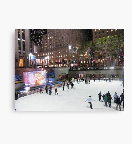 Rockefeller Center Skating Rink Canvas Print