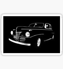 1941 Ford, Black on Black Sticker