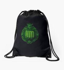 Haunted Mansion Plaque Drawstring Bag