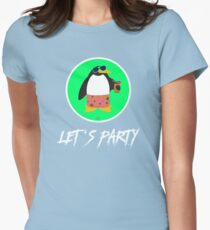 Let's Party Penguin Women's Fitted T-Shirt