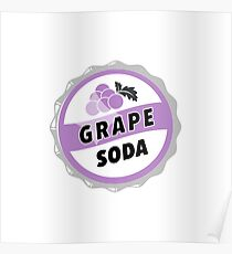 Grape Soda : UP Bottle Cap Poster