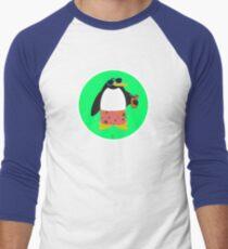 Party Penguin Men's Baseball ¾ T-Shirt