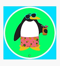 Party Penguin Photographic Print