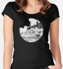 Dinosaur in the Bay of Fundy Women's Fitted Scoop T-Shirt