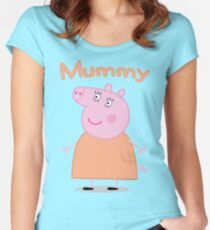Mummy Pig Women's Fitted Scoop T-Shirt