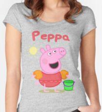 Camiseta entallada de cuello redondo peppa 2