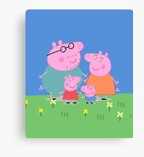 Peppa Family Canvas Print
