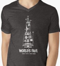 64/65 World's Fair - Tower of the Four Winds Men's V-Neck T-Shirt