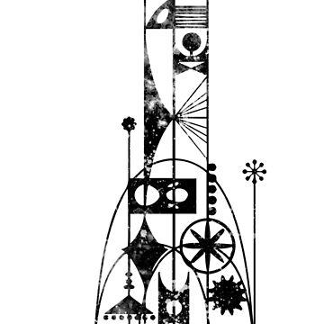 64/65 Weltausstellung - Turm der Vier Winde von Pop-Tacular