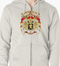Great Coat of Arms of Belgium Zipped Hoodie