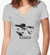 Butch Cassidy and the Sundance Kid Women's Fitted V-Neck T-Shirt