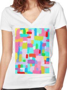 BUBBLEGUM DREAM Women's Fitted V-Neck T-Shirt