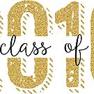 Class Of 2016 Modern Glitter Text Design by artonwear
