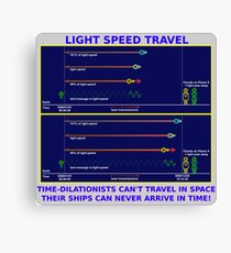 Science - Light Speed Travel 2 Canvas Print