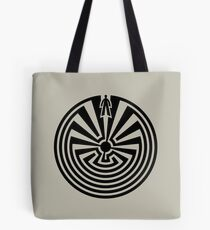 Man in the Maze, Journey through life, I'itoi, Papago Tote Bag