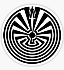 Man in the Maze, Journey through life, I'itoi, Papago Sticker