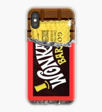Vinilo o funda para iPhone Boleto Dorado de Wonka Chocolate Bar