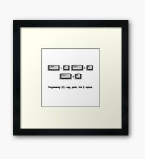 Programming 101: Copy, Paste, Find & Replace Framed Print