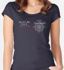 Compass design Women's Fitted Scoop T-Shirt