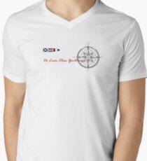 Compass design Mens V-Neck T-Shirt