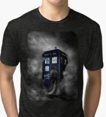 Blue Box in The Mist Tri-blend T-Shirt