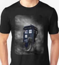 Blue Box in The Mist Unisex T-Shirt