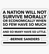 Bernie Sanders quote Sticker