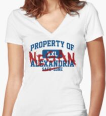 Property of Negan Women's Fitted V-Neck T-Shirt