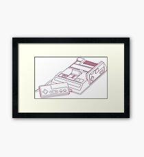 3D Famicom Framed Print