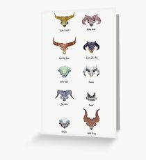 The Catalogue of High Dragons Greeting Card