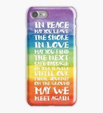 The Travellers Prayer - Reversed iPhone Case/Skin