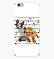 Musical Notes French Bulldog & Dogue De Bordeaux iPhone Case