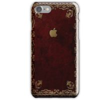 Apple Antique Leather Book Cover  iPhone Case/Skin