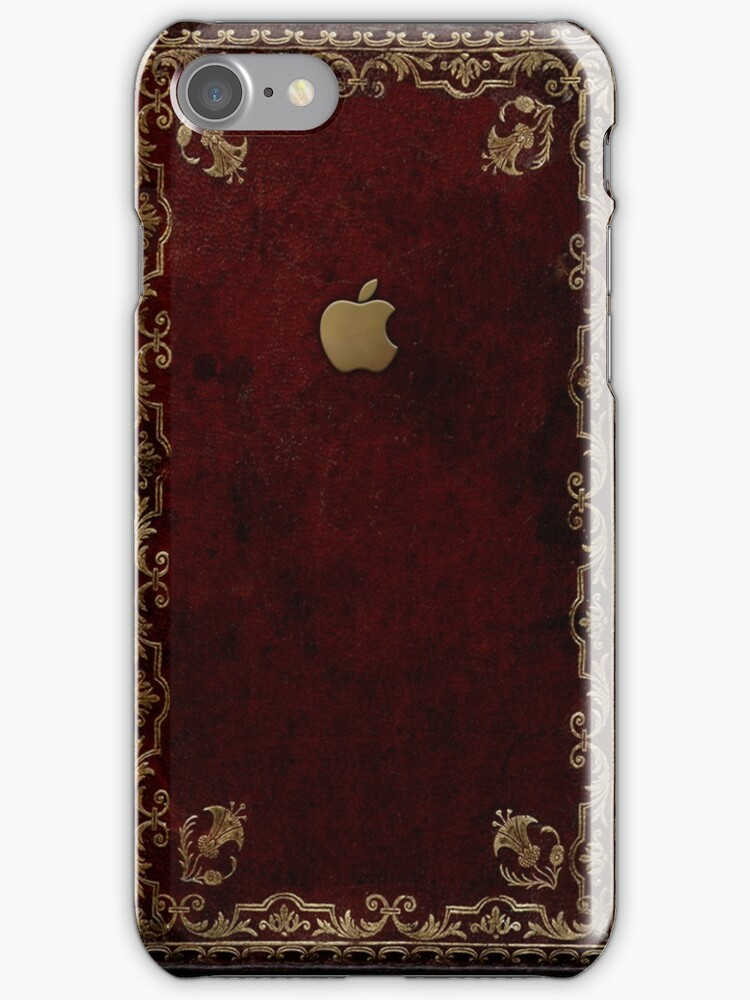 Old Book Phone Case : Quot apple antique leather book cover iphone cases skins