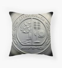 AMG Leather Stamp Throw Pillow