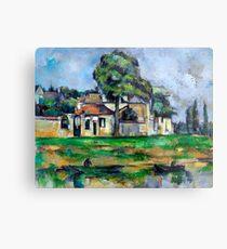 1888 - Paul Cezanne - Banks of the Marne Metal Print