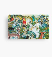 Goats and Guineas Canvas Print