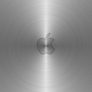 swirl apple metal iTunes isync brushed nickel aluminum by goodedesign