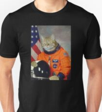 Astronaut Cat Kitten Funny Space T-Shirt