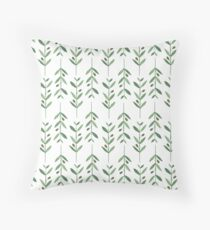 Olive pattern Throw Pillow