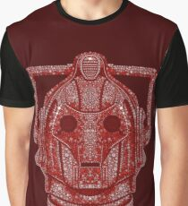 Snowflake Cyberman - Berry Red Graphic T-Shirt