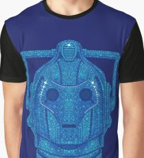Snowflake Cyberman - Tardis Blue Graphic T-Shirt
