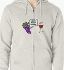 Matured Wine Zipped Hoodie