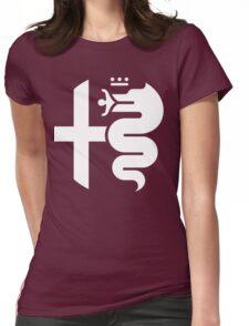 White Alfa Romeo of Birmingham Logo Womens Fitted T-Shirt